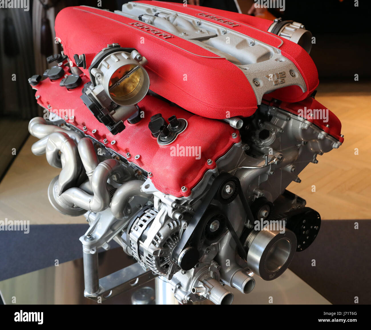 Ferrari V12 Engine High Resolution Stock Photography And Images Alamy