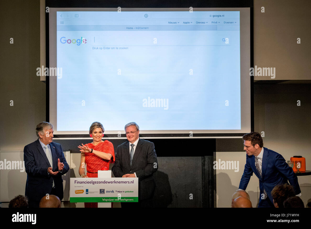 Amsterdam, The Netherlands. 23rd May, 2017. Queen Maxima of The Netherlands launches employers website at the annual - Stock Image
