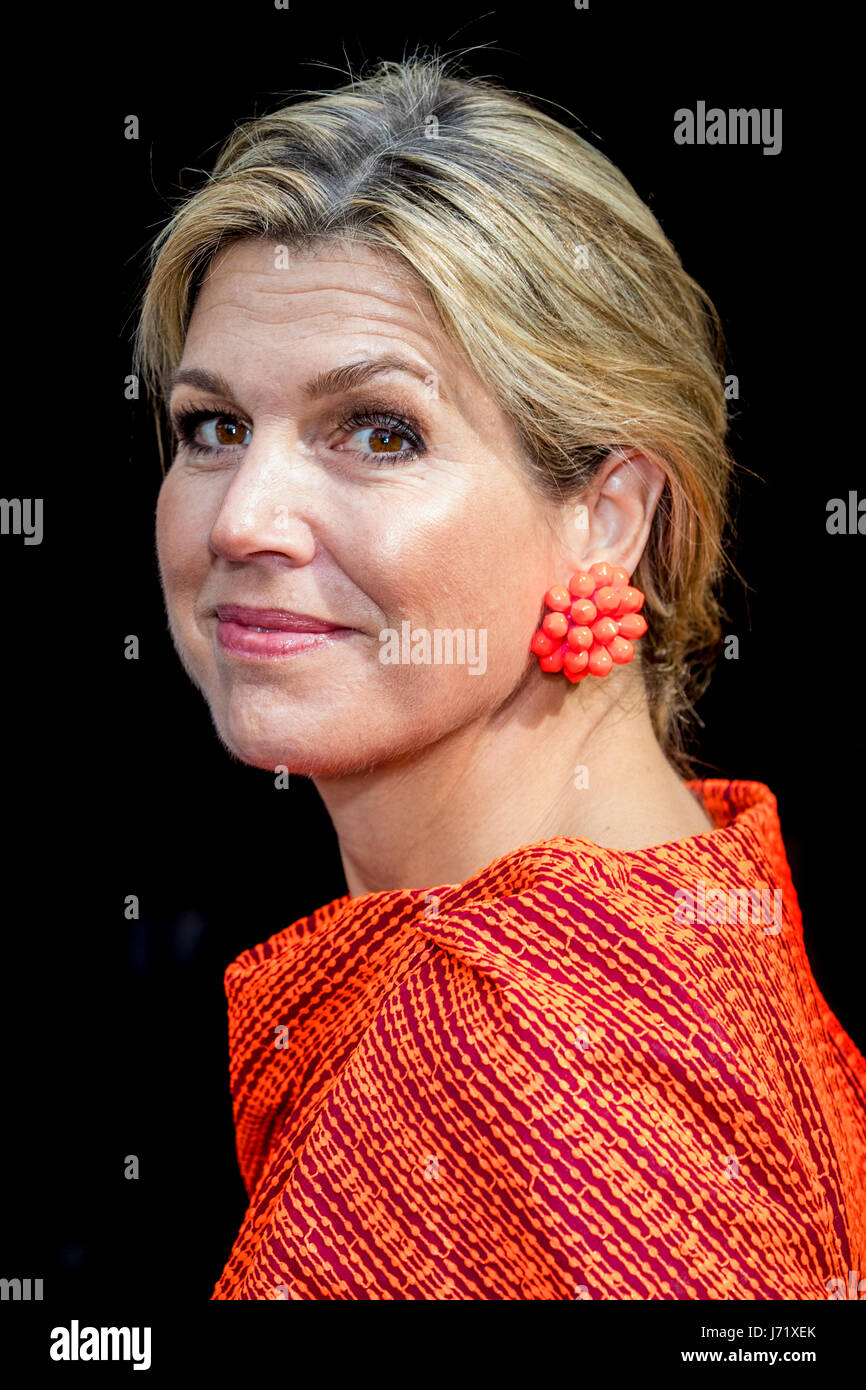 Amsterdam, The Netherlands. 23rd May, 2017. Queen Maxima of The Netherlands attends the annual symposium of platform - Stock Image