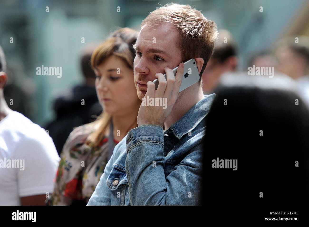 Manchester, UK. 23rd May, 2017. The Arndale shopping centre in Manchester has been evacuated after a suspect package - Stock Image