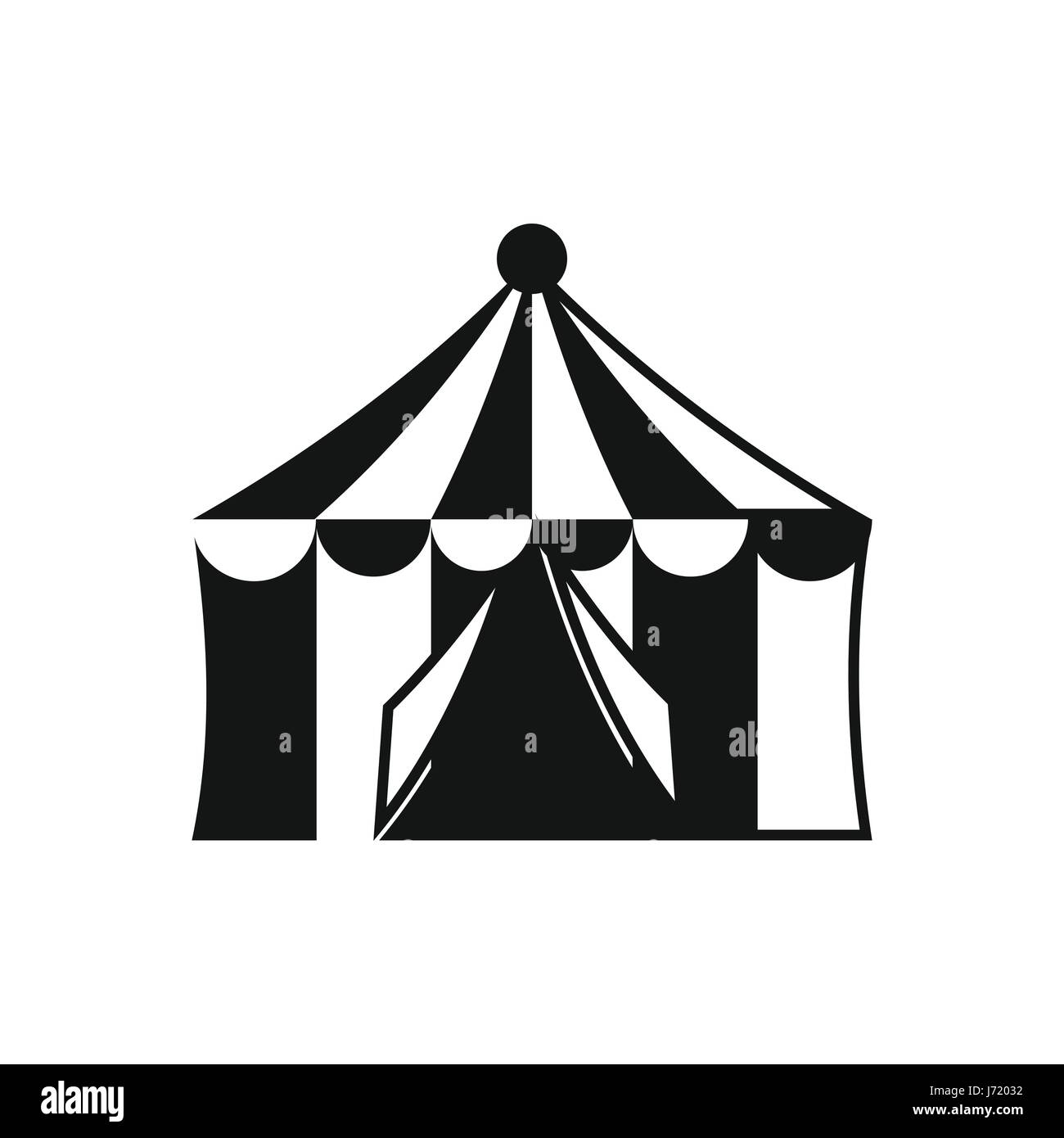 Circus tent icon, simple style - Stock Image