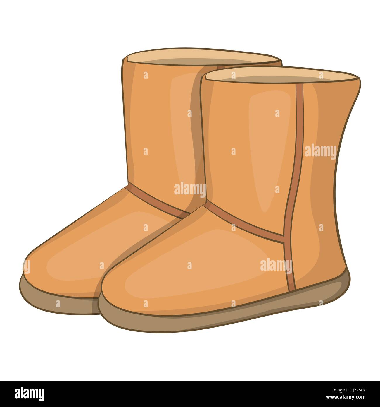 242acbfd1c Winter ugg boots icon, cartoon style Stock Vector Art & Illustration ...