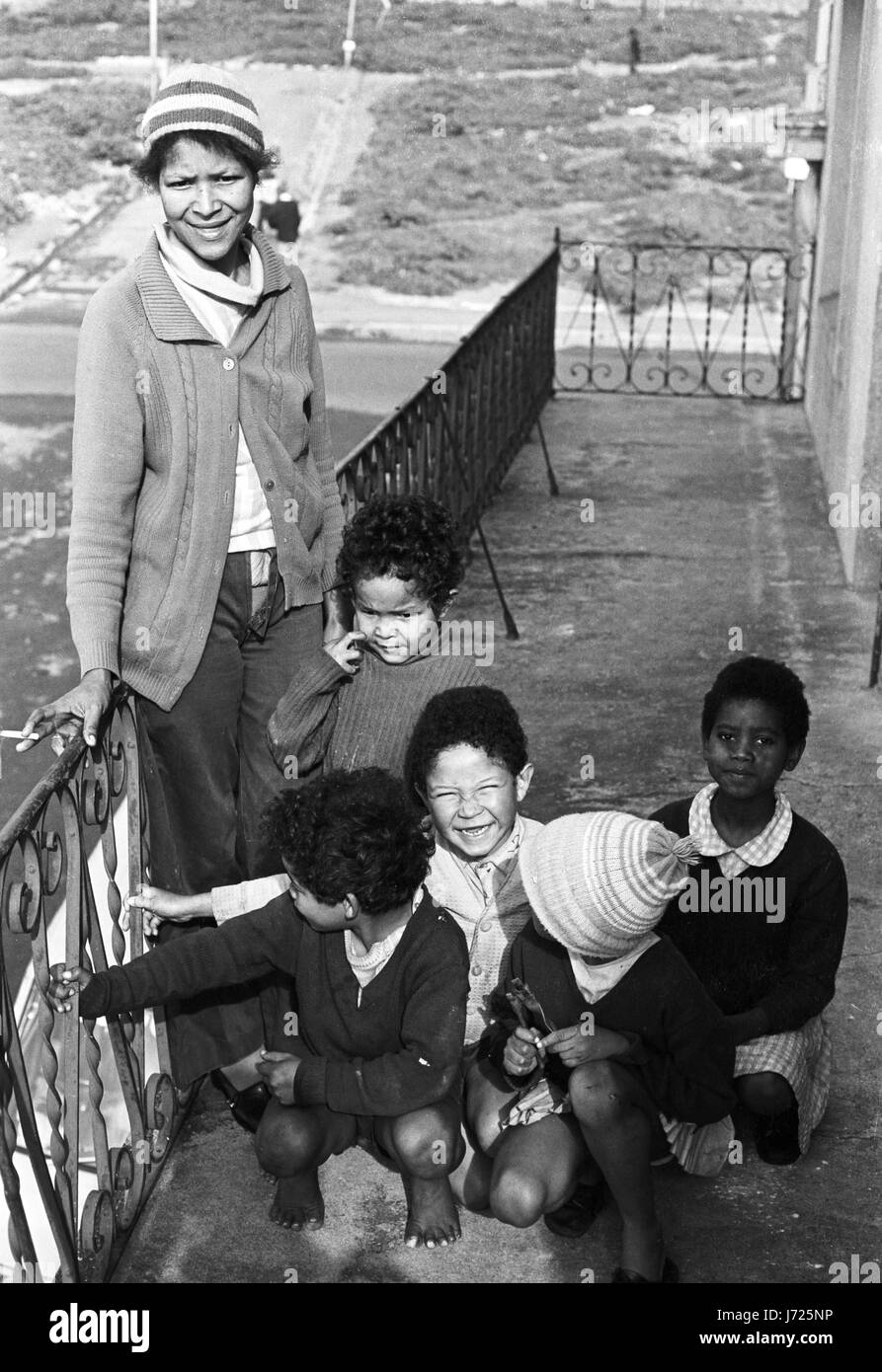 Residents of District Six Cape Town - Stock Image