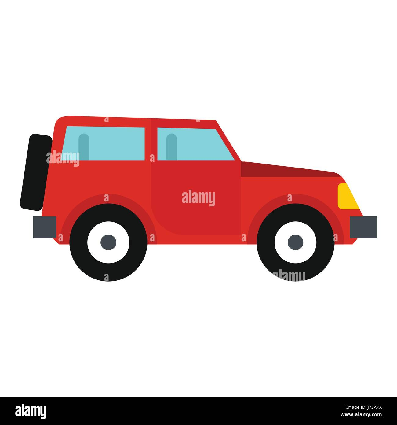 jeep icon flat style stock vector art illustration vector image