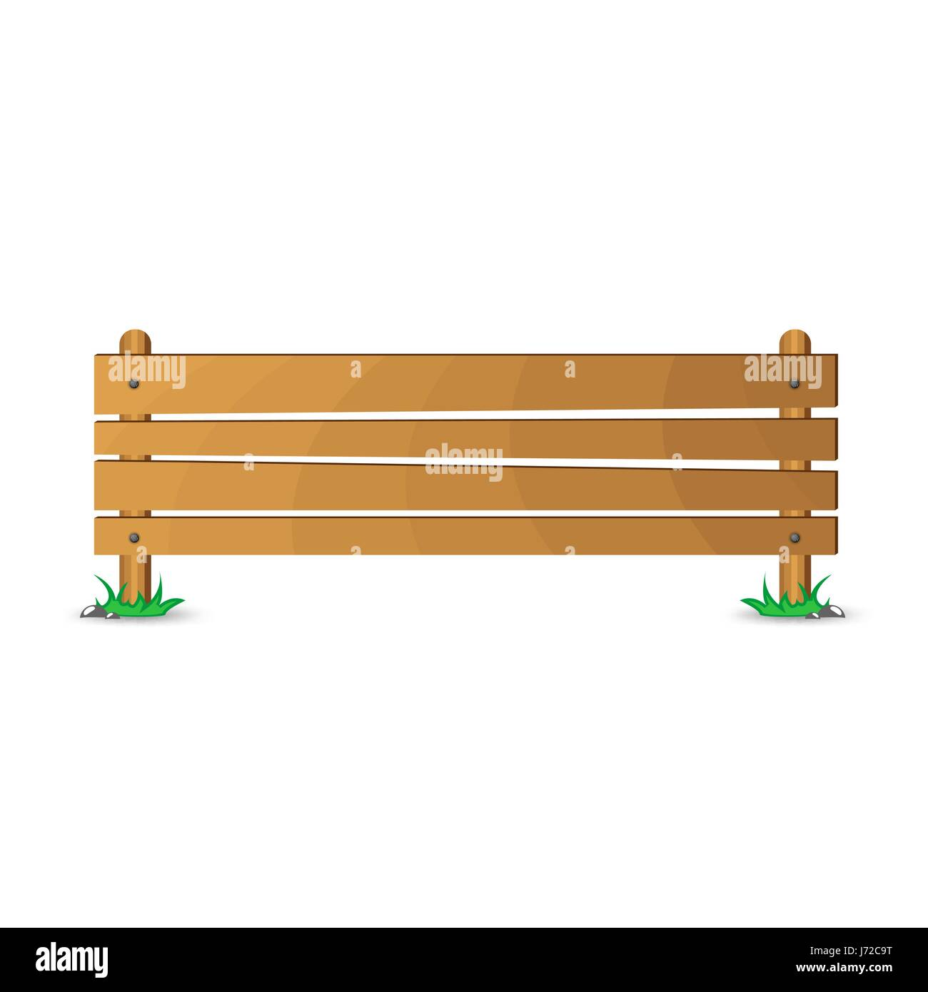 Wood board isolated on white background - Stock Vector
