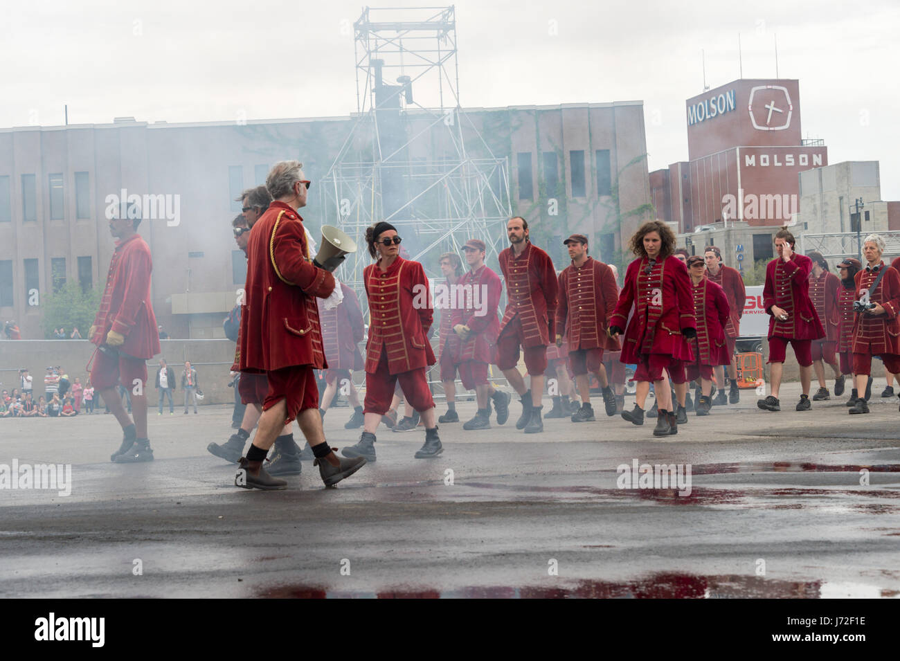 Montreal, CA - 21 May 2017: Royal de Luxe Giants as part of the commemorations of the 375th anniversary of Montreal - Stock Image