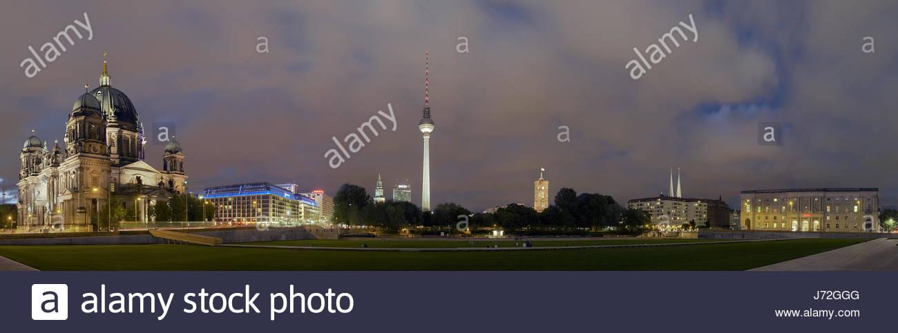 panorama berlin mitte - Stock Image