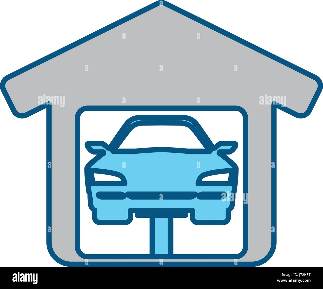 Garage Door Mechanic Stock Vector Art Illustration Vector Image
