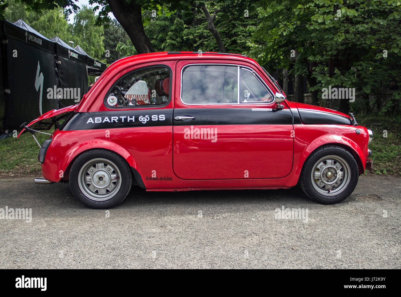a fiat 500 abarth classic car stock photo 142044615 alamy. Black Bedroom Furniture Sets. Home Design Ideas