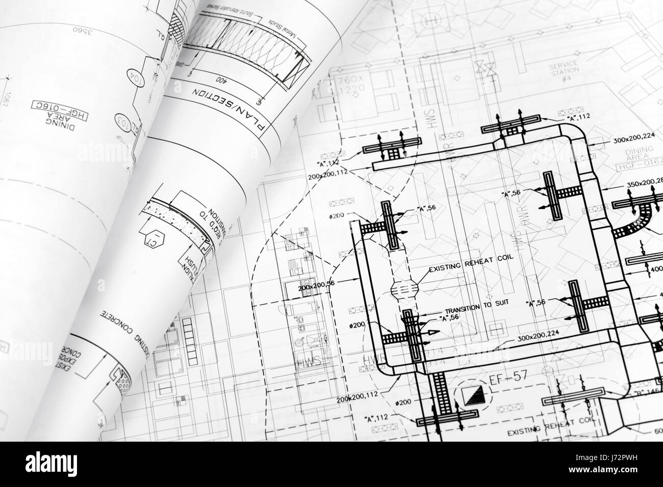Architectural technical blueprint background engineering stock architectural technical blueprint background engineering construction malvernweather Images