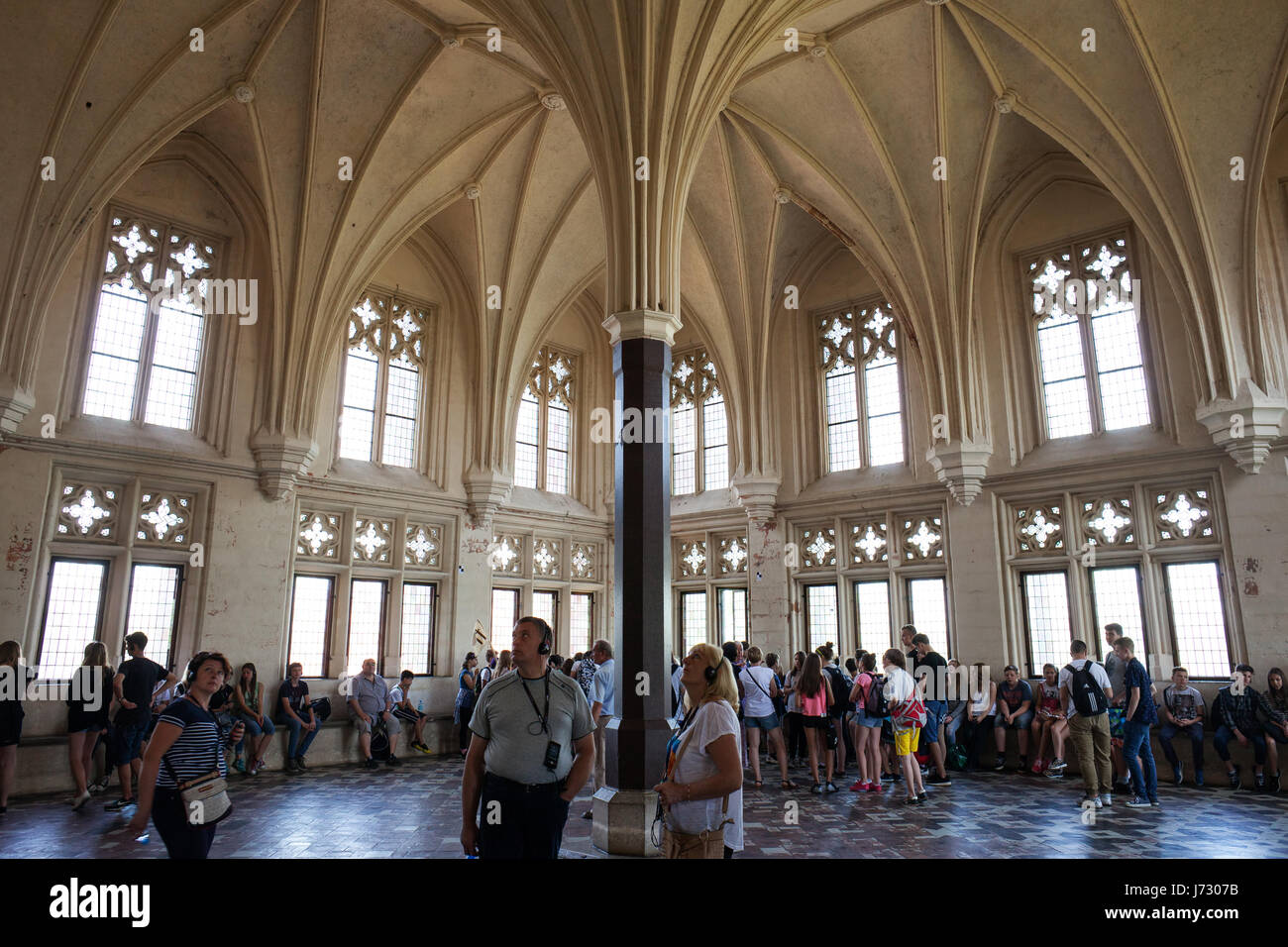 Malbork Castle Interior Summer Refectory In Grand Masters Palace Poland Europe