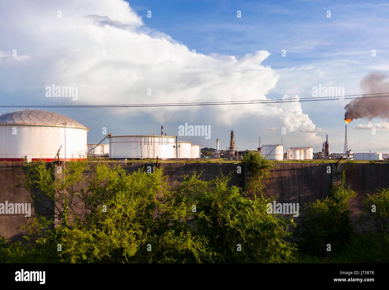 The Cuba Oil Union refinery in Havana, Cuba. Stock Photo