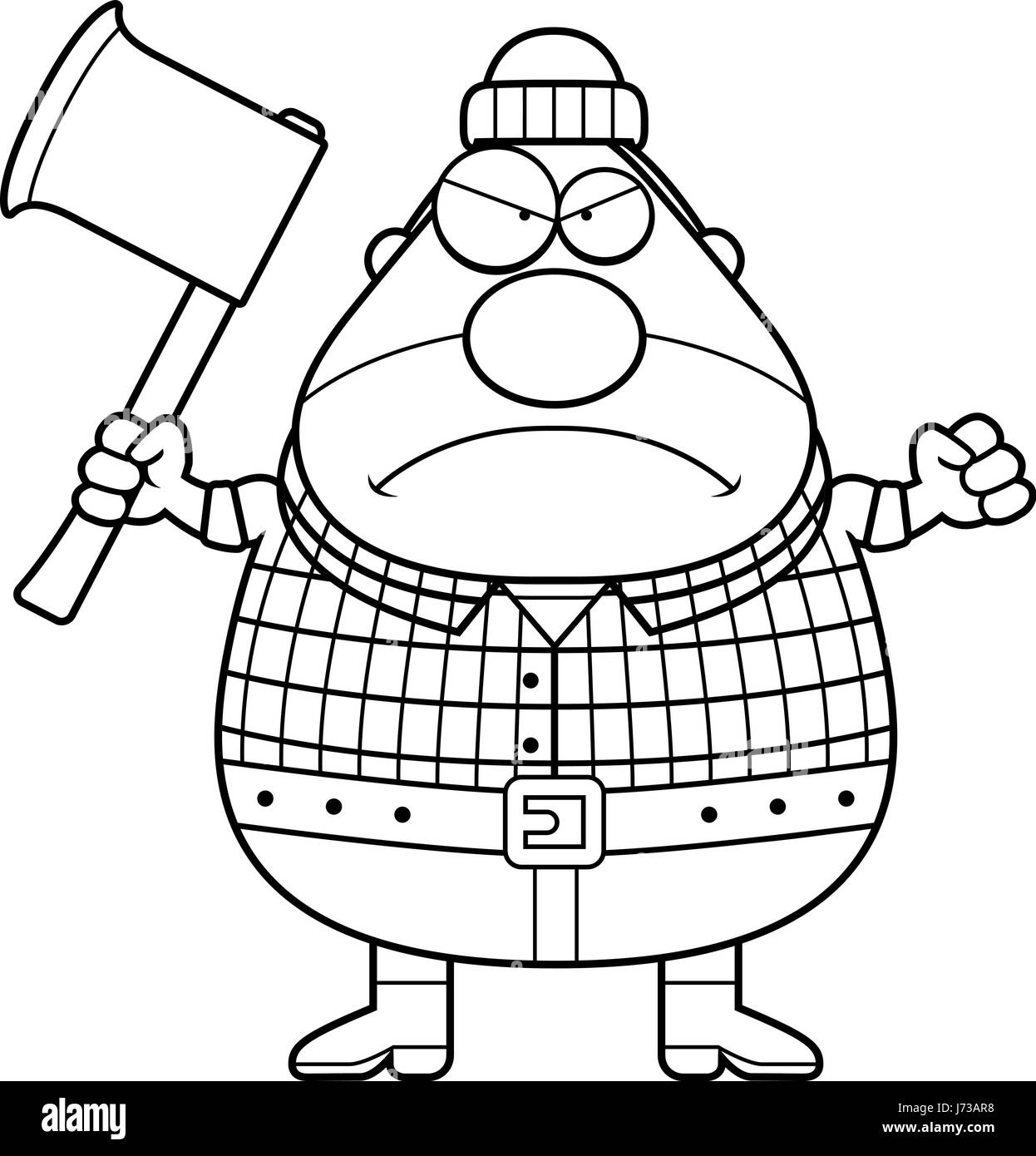 cartoon lumberjack illustration cut out stock images pictures alamy  a cartoon illustration of a lumberjack looking angry stock image