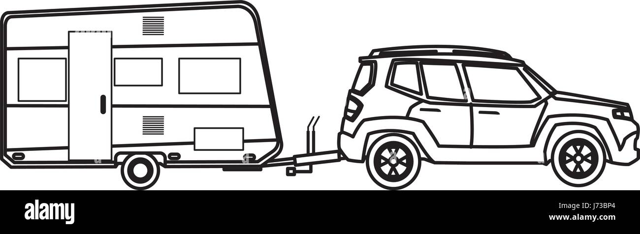 Car Camping Stock Vector Images - Alamy