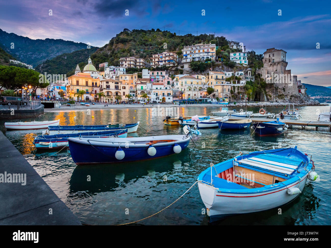 Cetara is a town and comune in the province of Salerno in the Campania region of south-western Italy. It is located - Stock Image