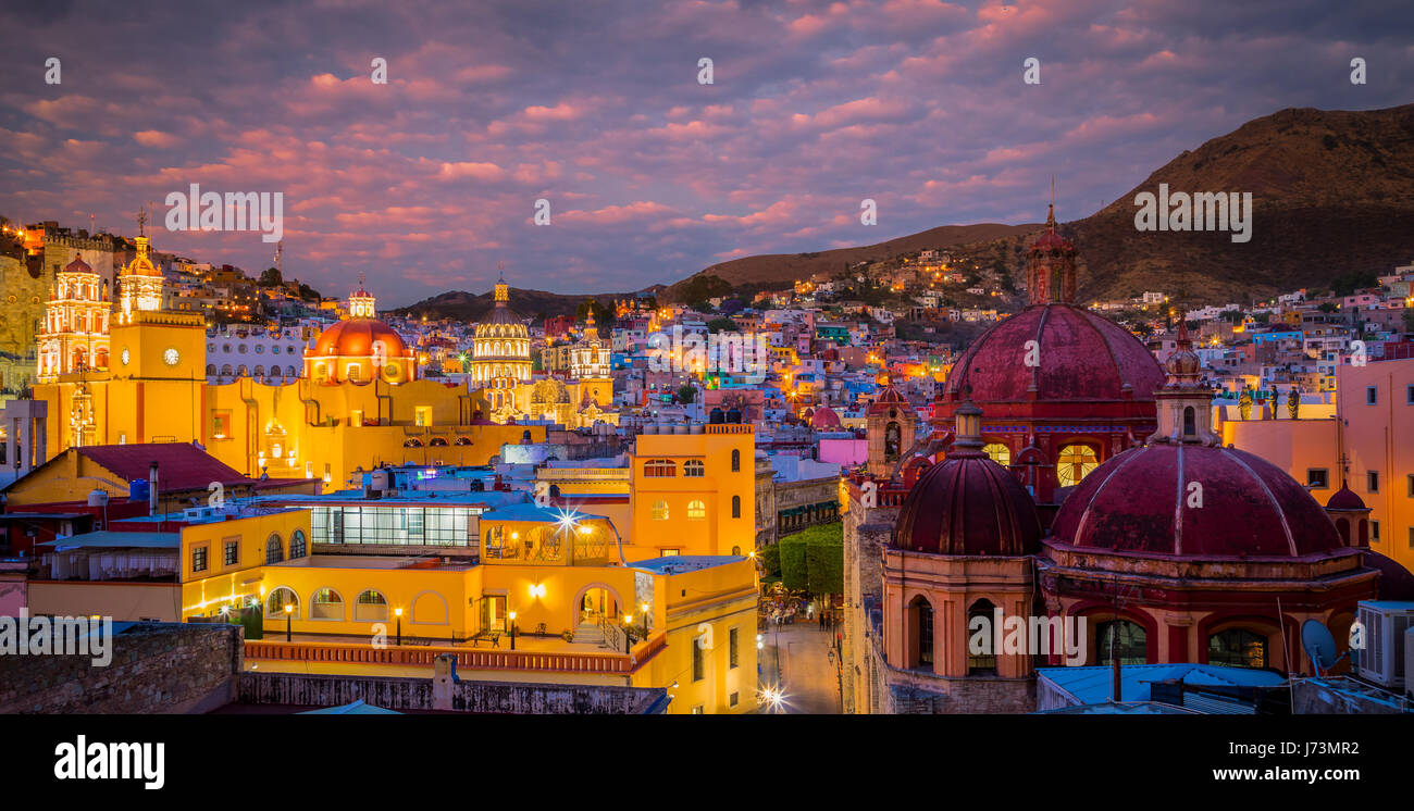 Guanajuato is a city and municipality in central Mexico and the capital of the state of the same name. It is part - Stock Image