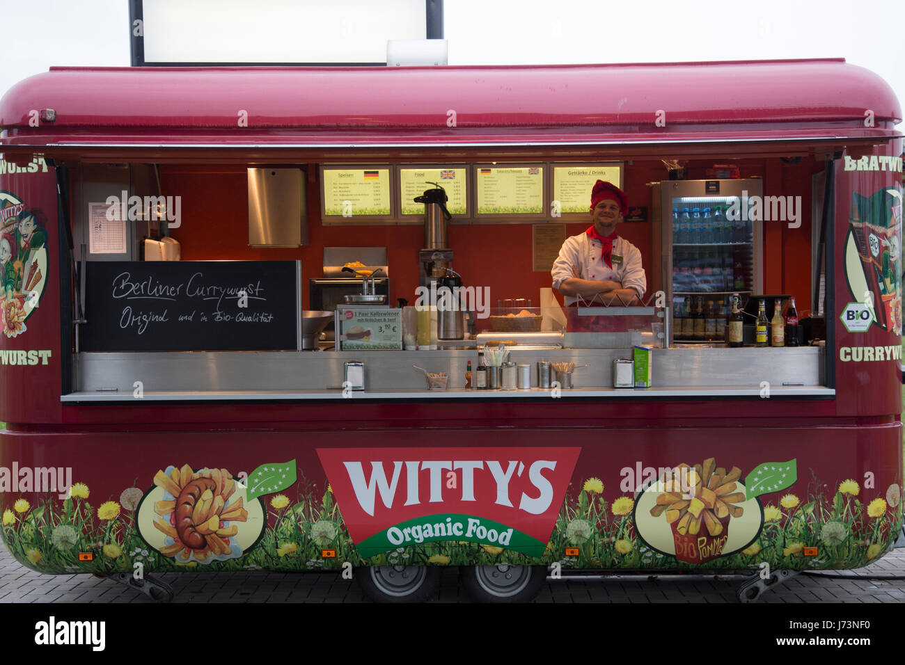 berlin hot dog stand curry wurst stock photo 142068276 alamy. Black Bedroom Furniture Sets. Home Design Ideas