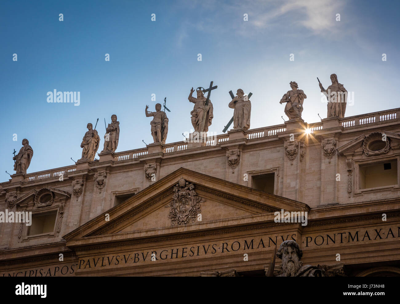 The Papal Basilica of Saint Peter, commonly known as St. Peter's Basilica - Stock Image