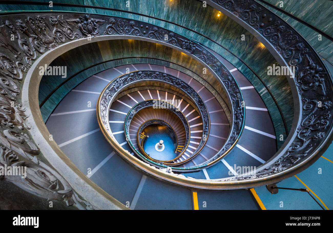 Spiral staircase in the Vatican museums (Italian: Musei Vaticani) - Stock Image