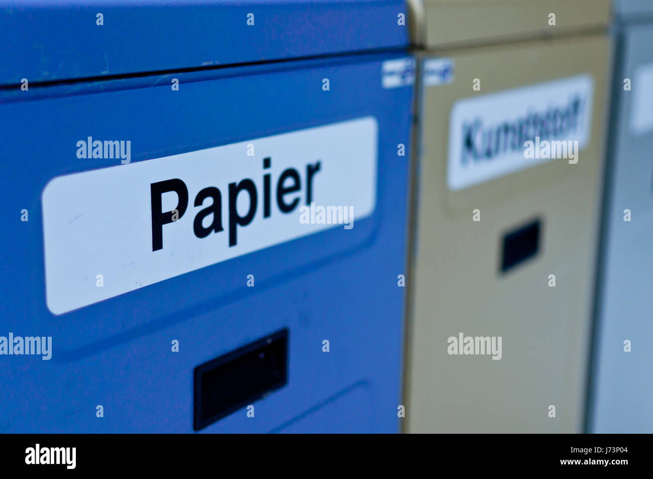 newspaper journal environment enviroment bucket barrel sheet of paper paper Stock Photo