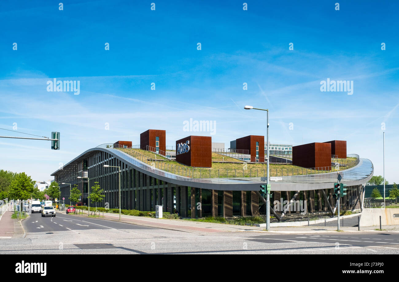 Atos Building at Adlershof Science and Technology Park  Park in Berlin, Germany Stock Photo