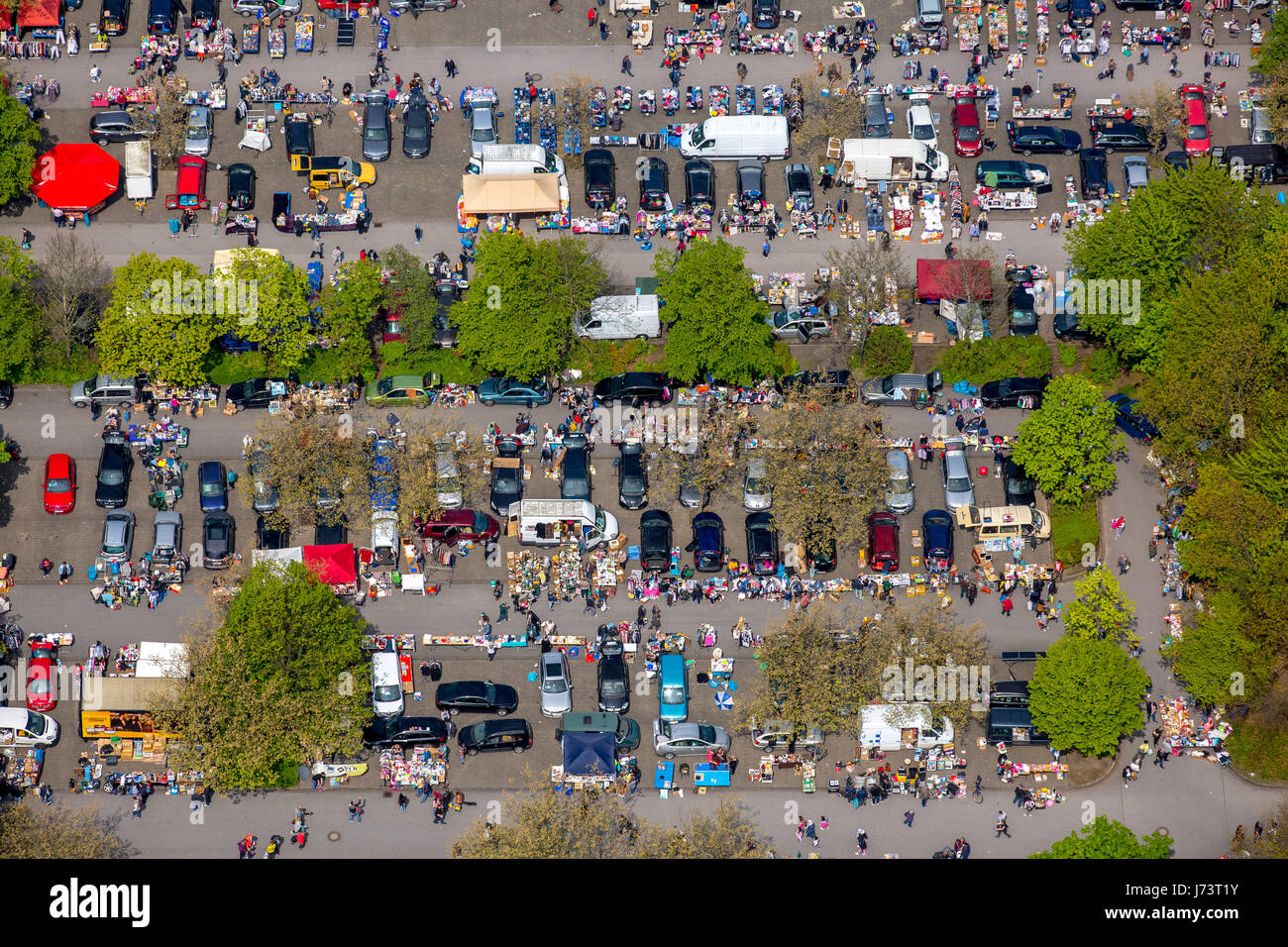 Flea Market at the University of Dortmund, bargain market, secondhand market, Dortmund, Ruhr area, North Rhine-Westphalia, - Stock Image