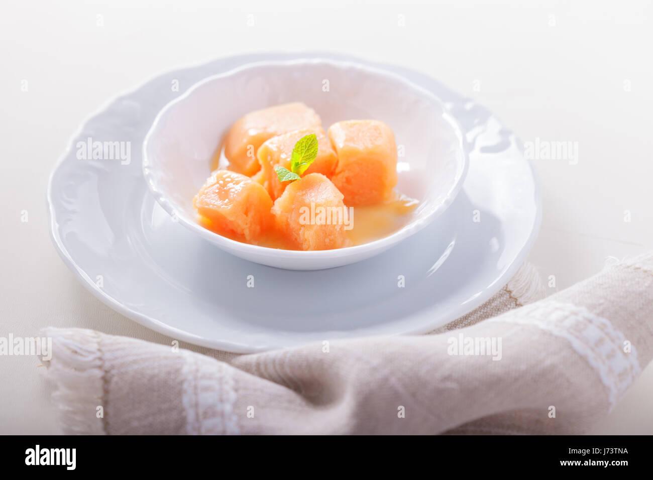 Delicious Apricot sorbet - Stock Image
