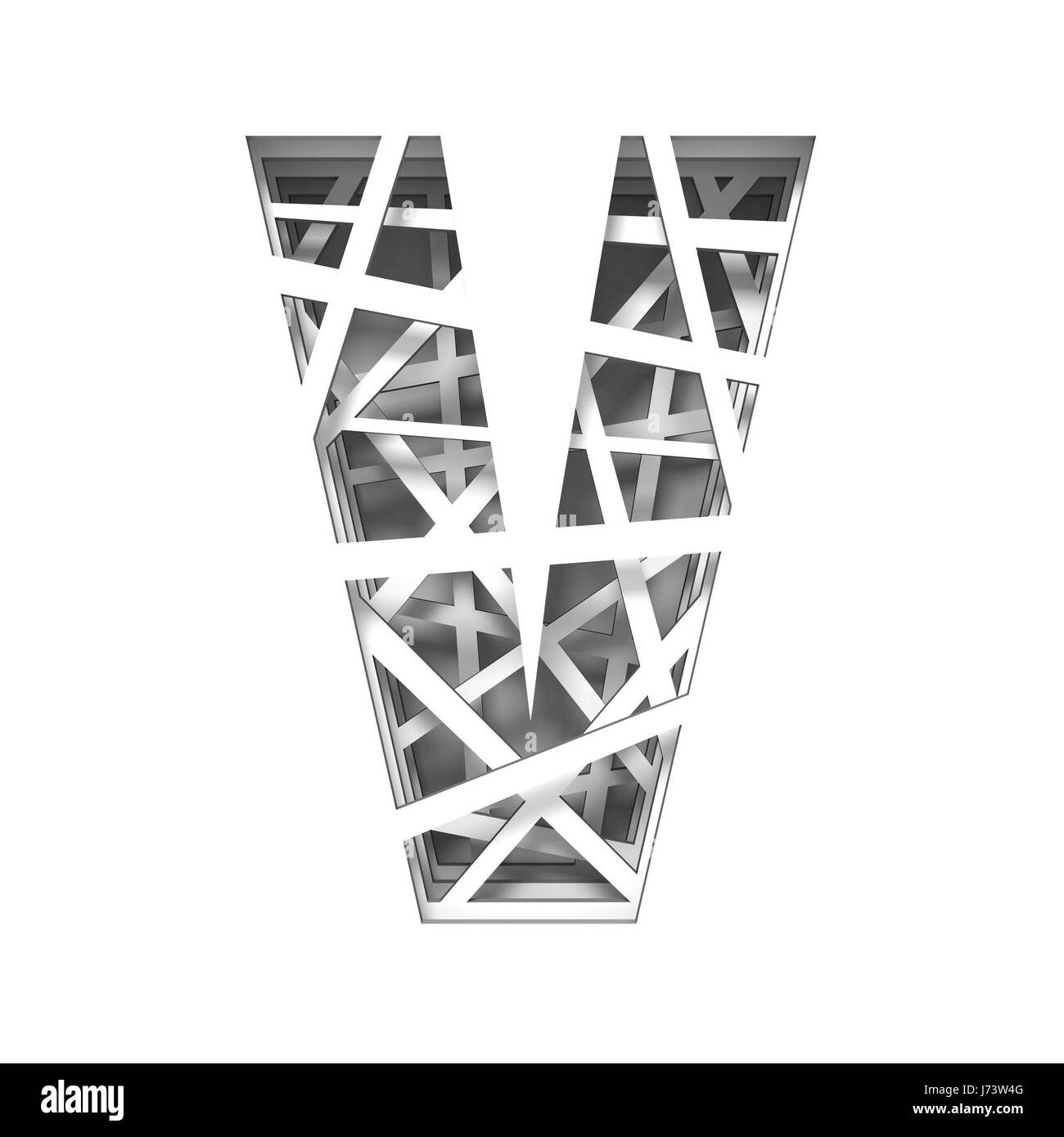 Paper cut out font letter v 3d render illustration isolated on white paper cut out font letter v 3d render illustration isolated on white background spiritdancerdesigns Image collections
