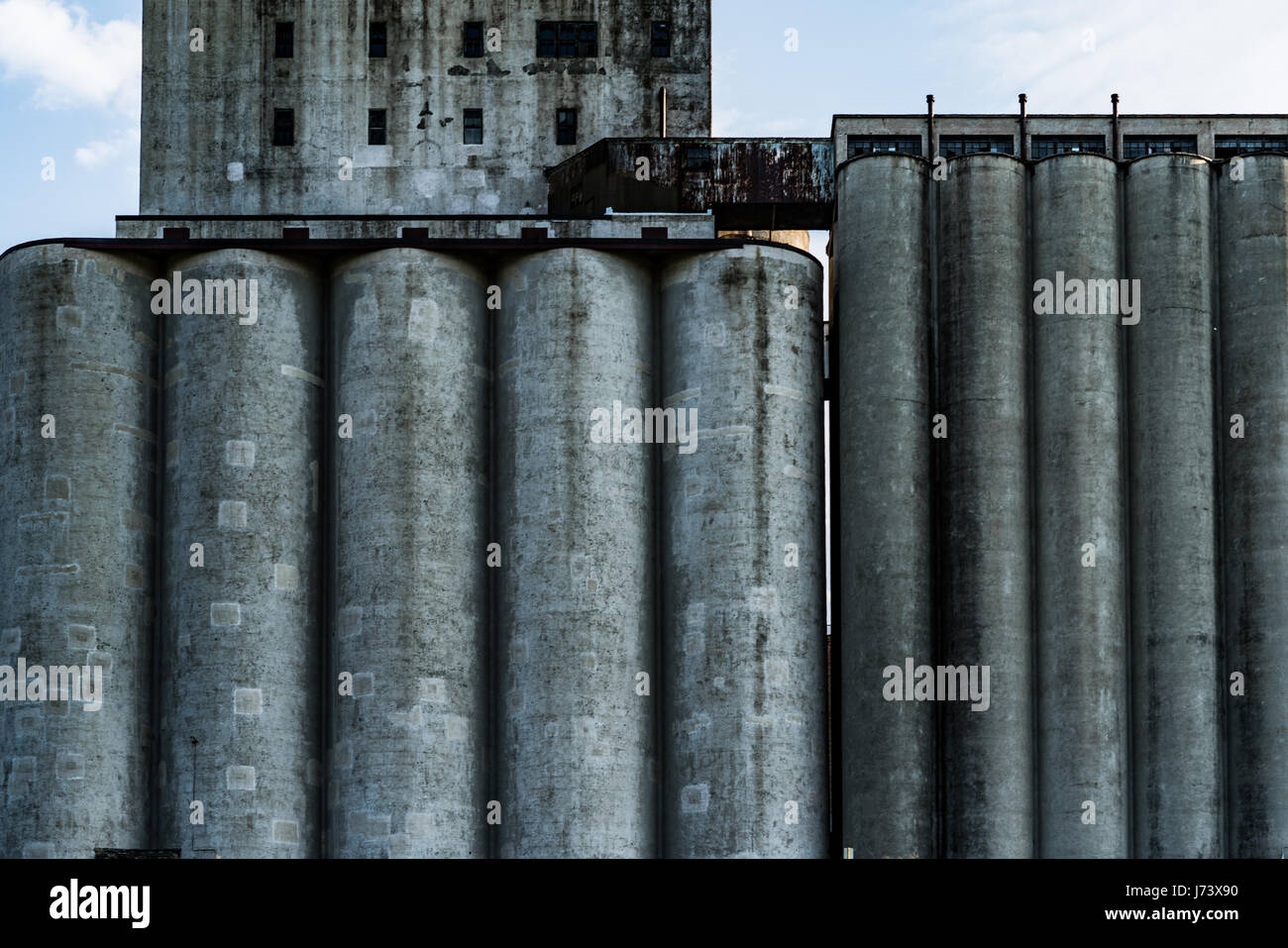 leftover industry from the grain belt in Minneapolis - Stock Image