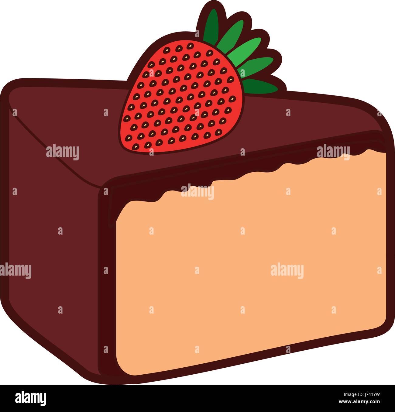 19c3063b75d8 yummy sweet cake slide piece Stock Vector Art   Illustration