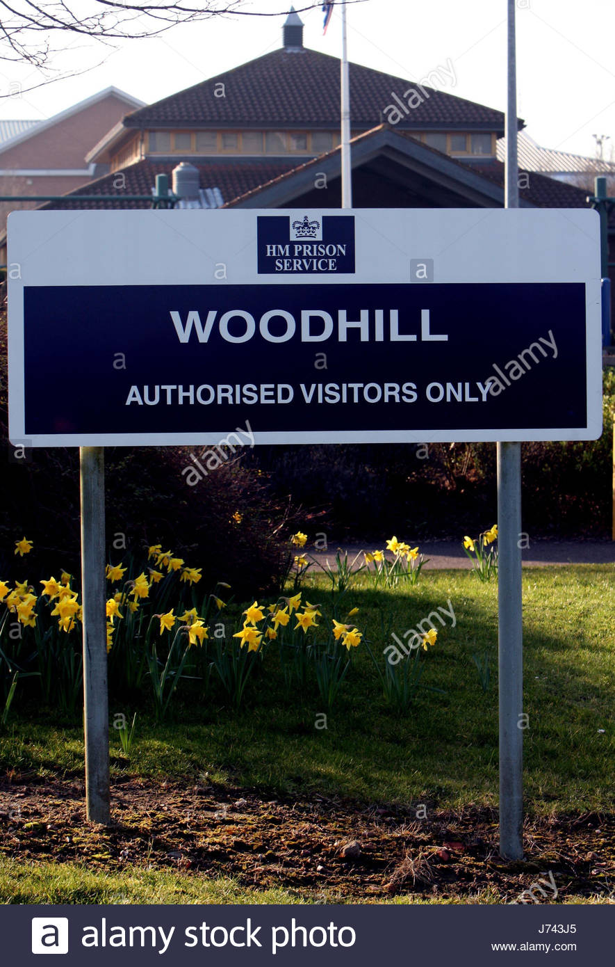 File photo dated 12/02/08 of HMP Woodhill in Milton Keynes. The High Court has dismissed a case brought by relatives - Stock Image