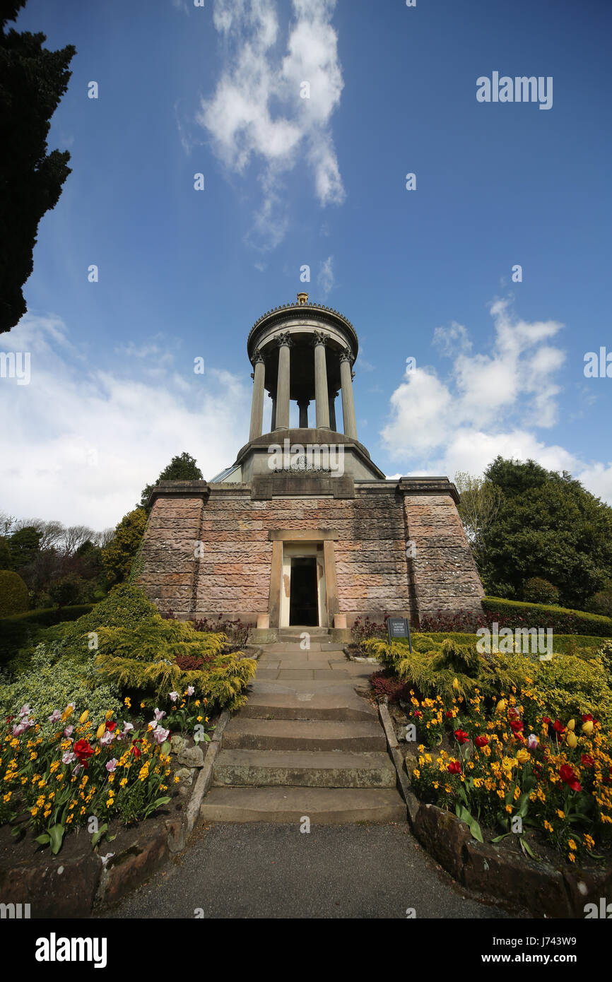 Robert Burns Monument,Alloway. Scotland. Built by public subscription in 1823. Inside is a 3 dimensional model of - Stock Image