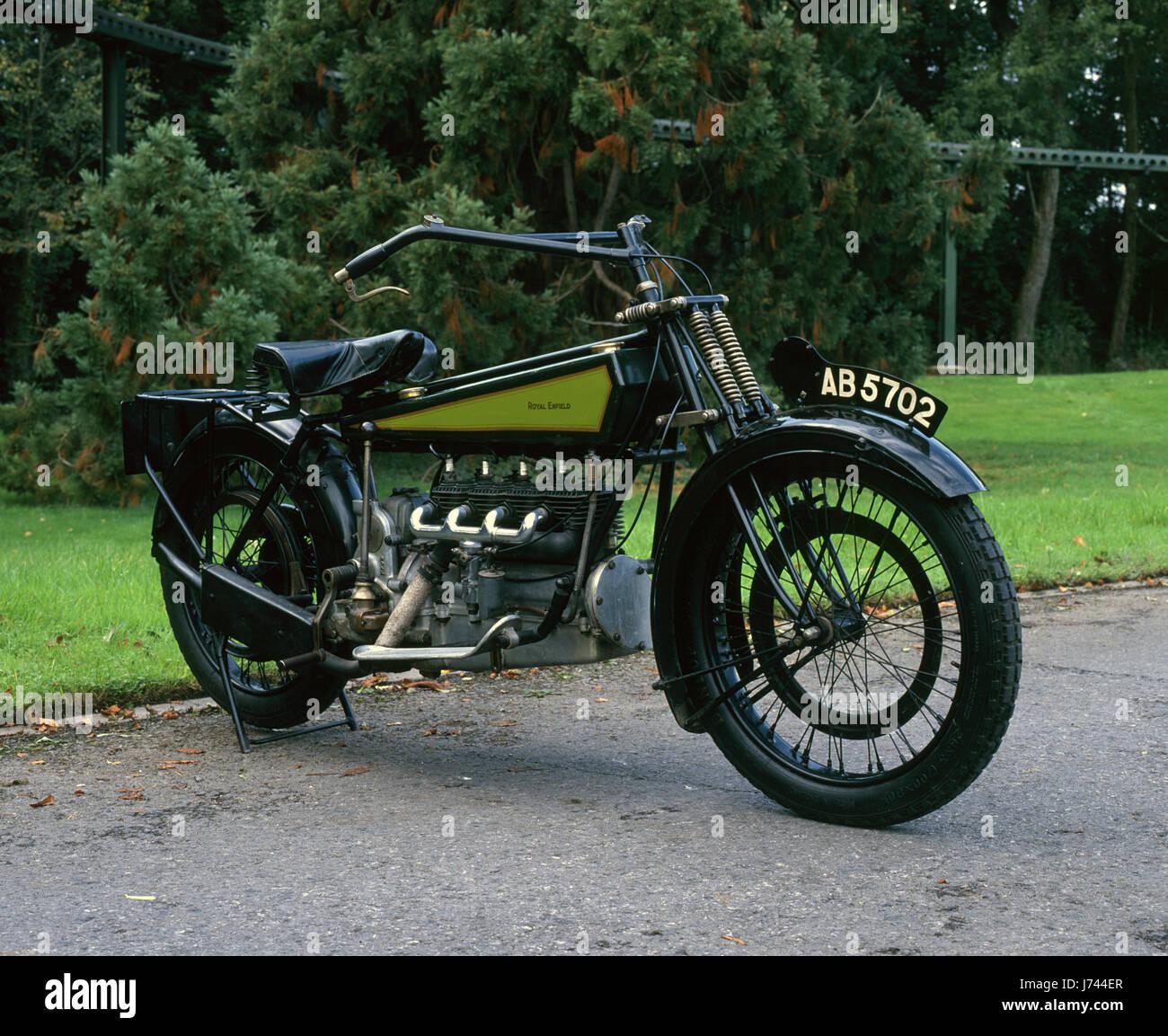 1919 Royal Enfield Experimental - Stock Image