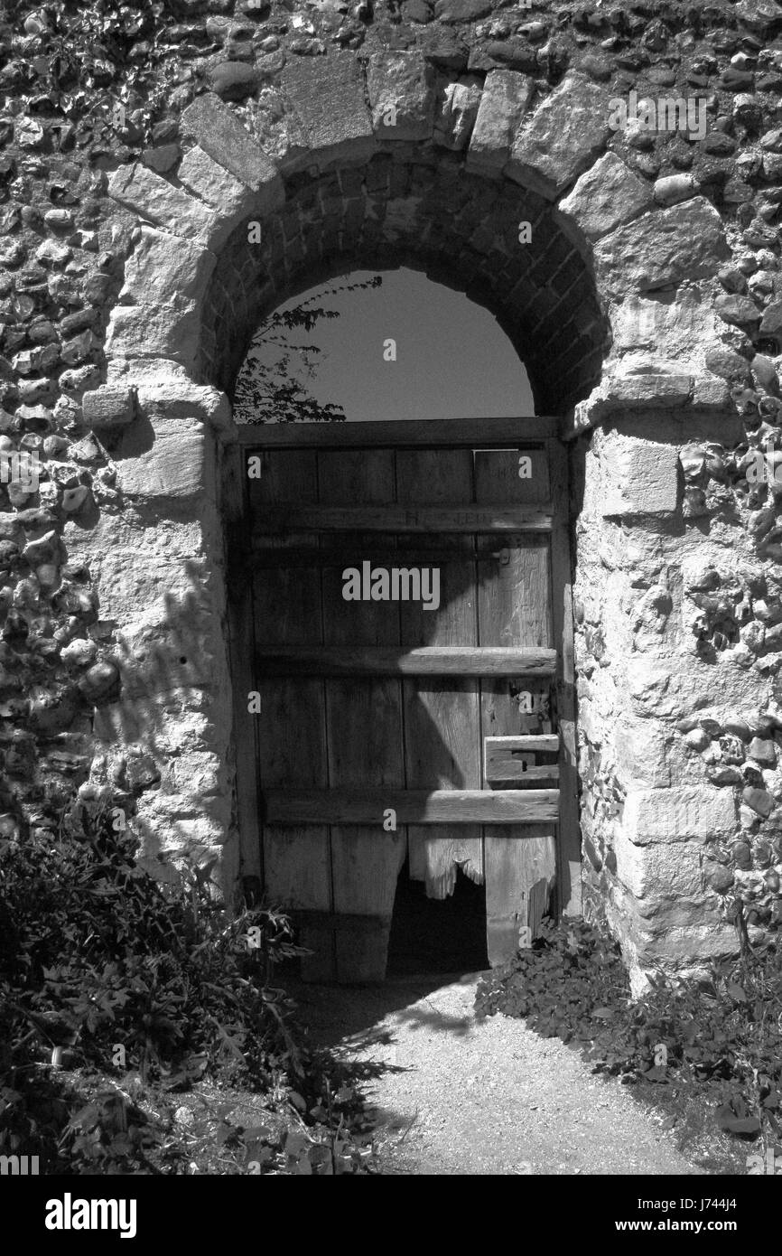 old wooden doorway Stock Photo