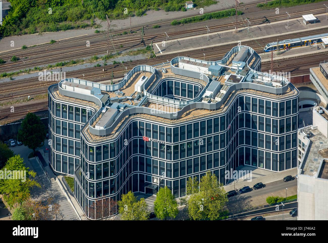 Schenker headquarters, logistics company, Essen, Ruhr area, North Rhine-Westphalia, Germany,Schenker Zentrale, Logistikunternehmen, - Stock Image