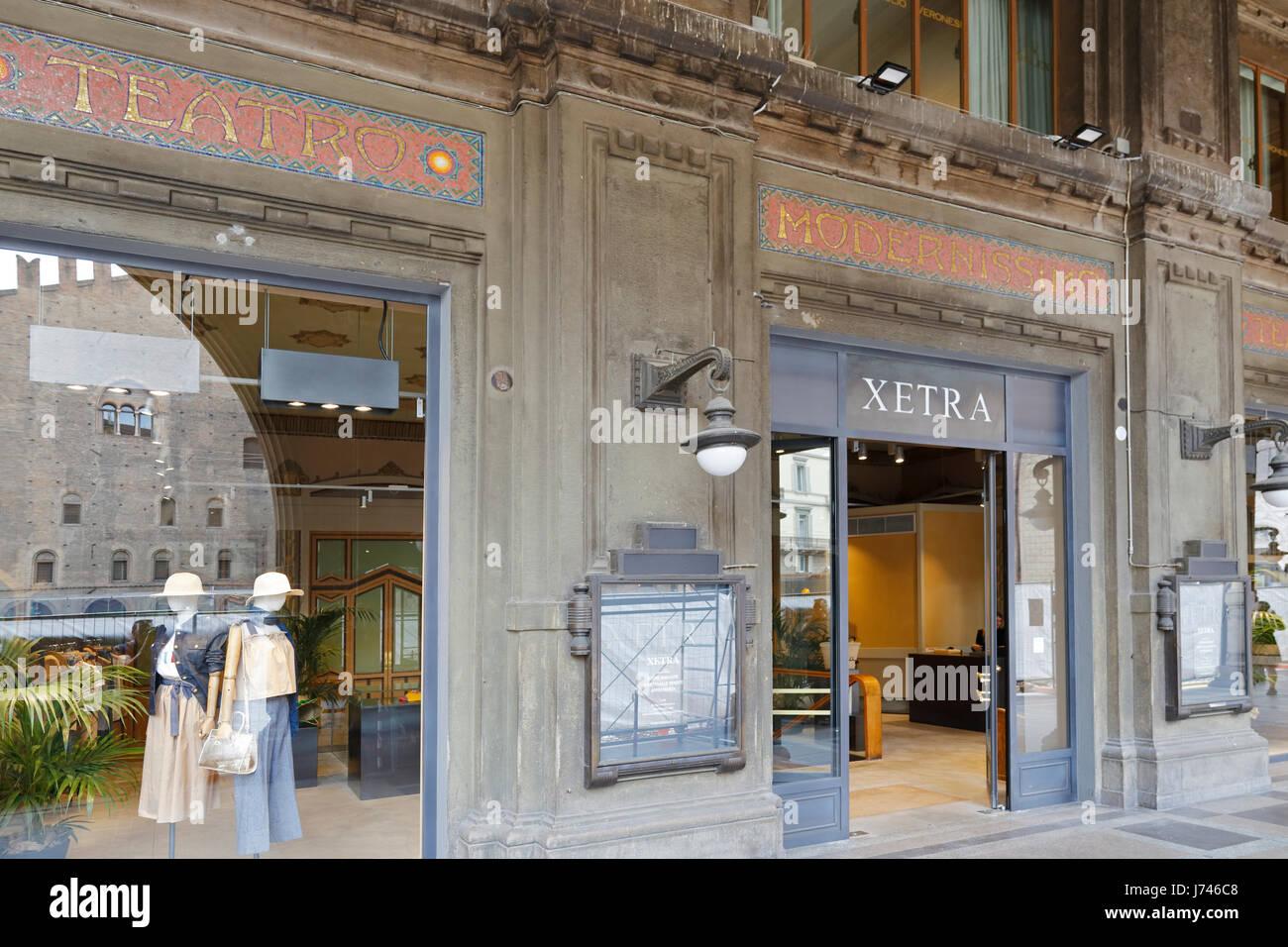 Xetra Italian clothing store in the renovated Teatro Modernissimo, Piazza Re Enzo, Bologna, Emilia-Romagna, Italy, Stock Photo