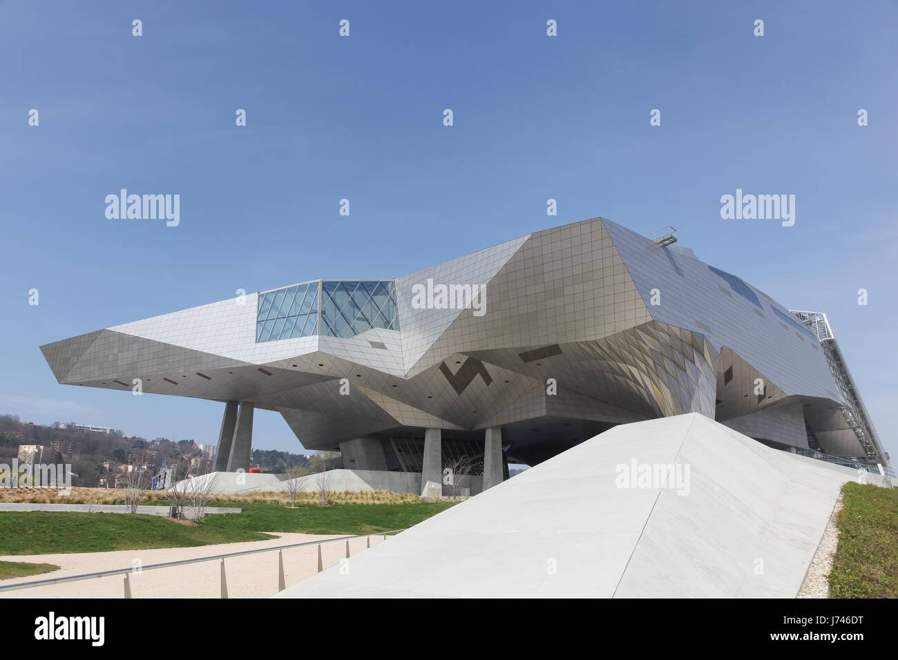 Lyon, France - March 15, 2017: The Musee des Confluences in Lyon, France Stock Photo