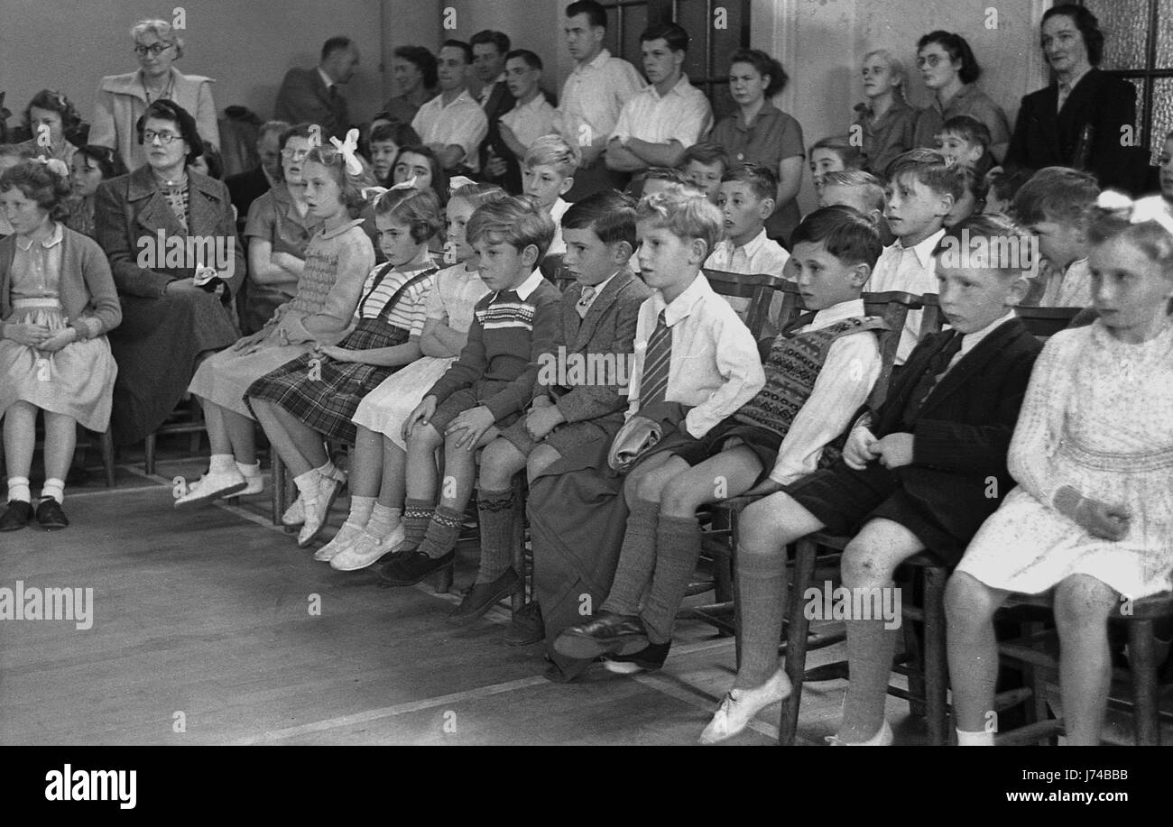 1950 an audience of primary school children teachers and parents