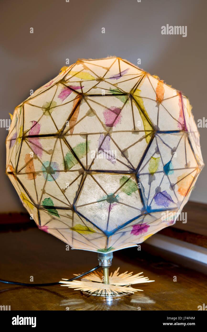 Lampe Suspension Papier Design lamp folded paper volume (japanese origami) lamp folded