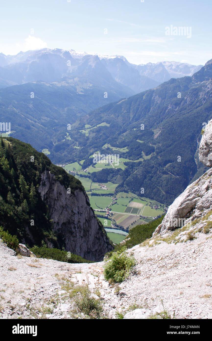 summit nature-sanctuary climax peak signpost cycle track path way mountain blue Stock Photo