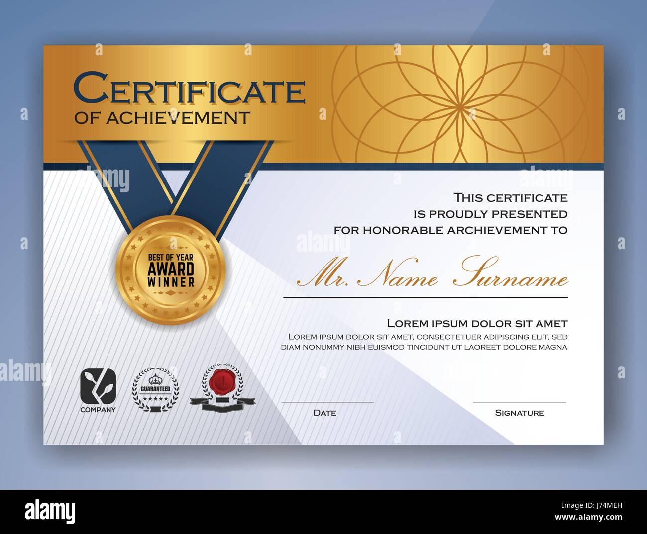 multipurpose professional certificate template design for print vector illustration - Certificate Design Template