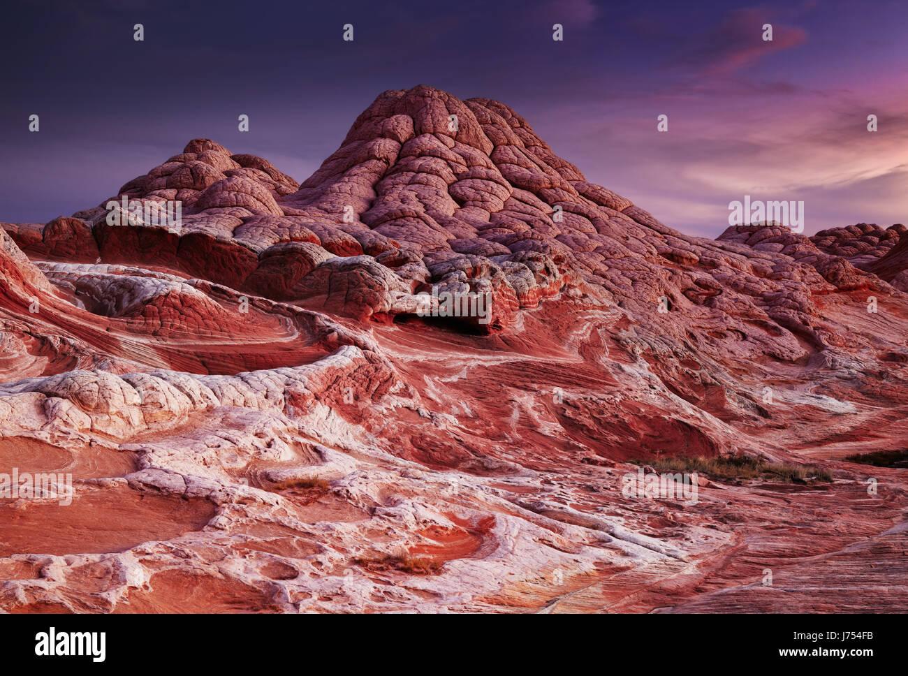 White Pocket rock formations, Vermilion Cliffs National Monument, Arizona, USA - Stock Image