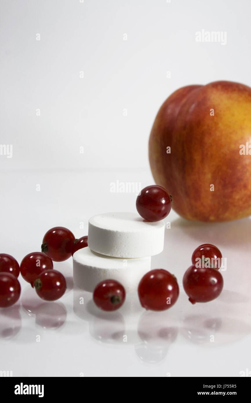 vitamine fruit peach currant nutrition healthy vitamins vitamines Stock Photo