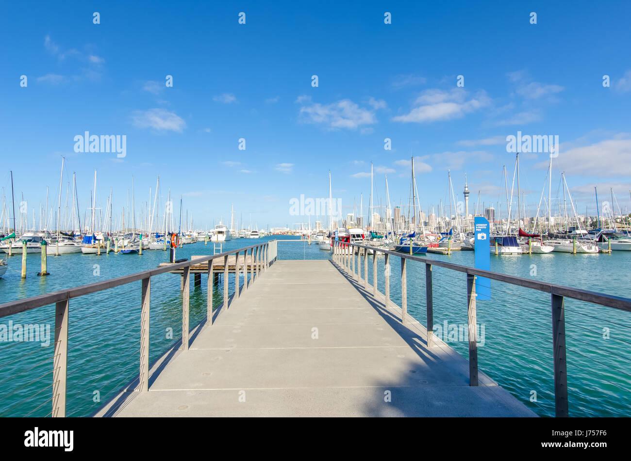 Auckland,New Zealand - October 25,2015 : Westhaven Marina is the largest yacht marina in Auckland,New Zealand. - Stock Image