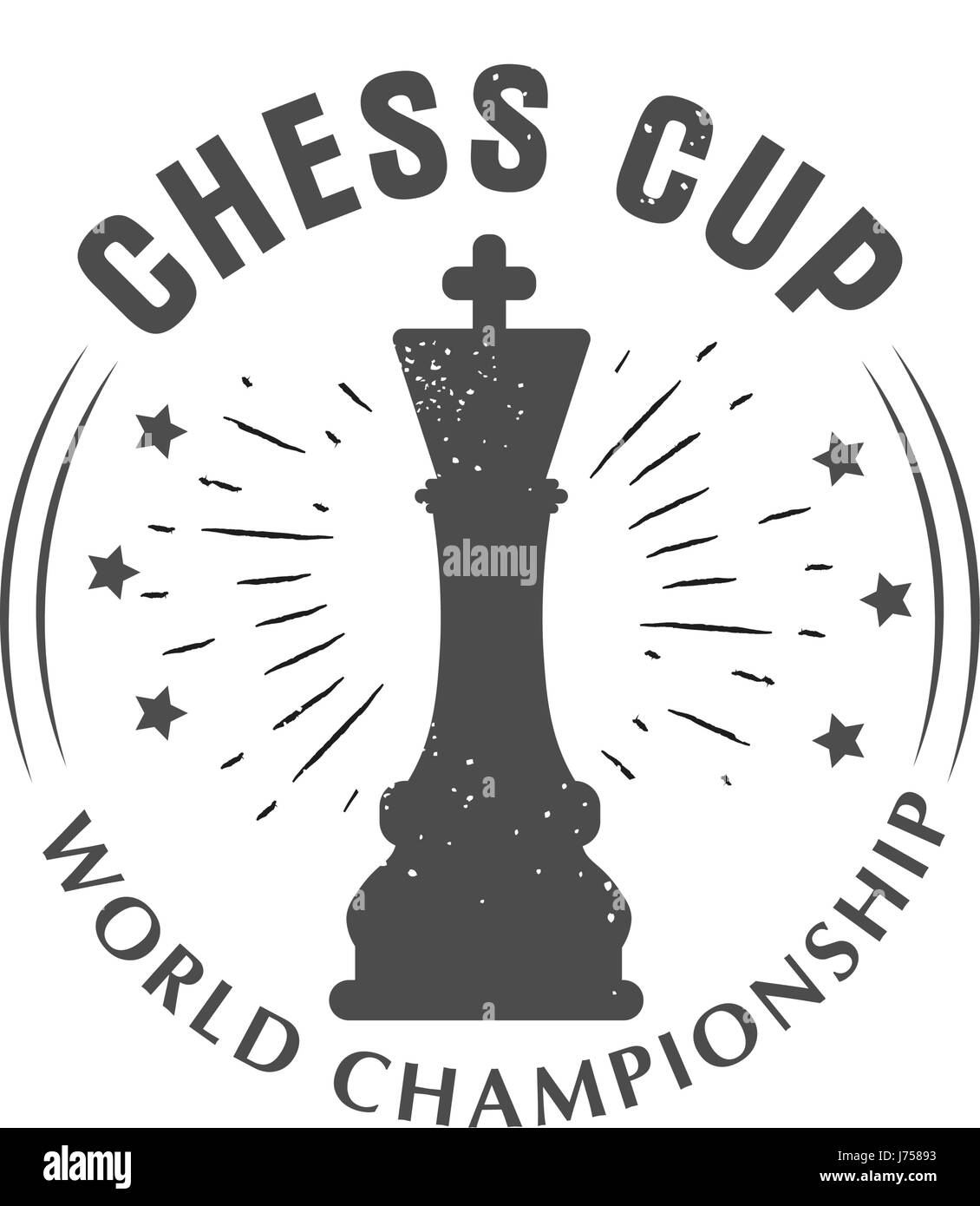 Vector logo chess king, Queen. Sport championship. Badge isolated on white background Stock Vector
