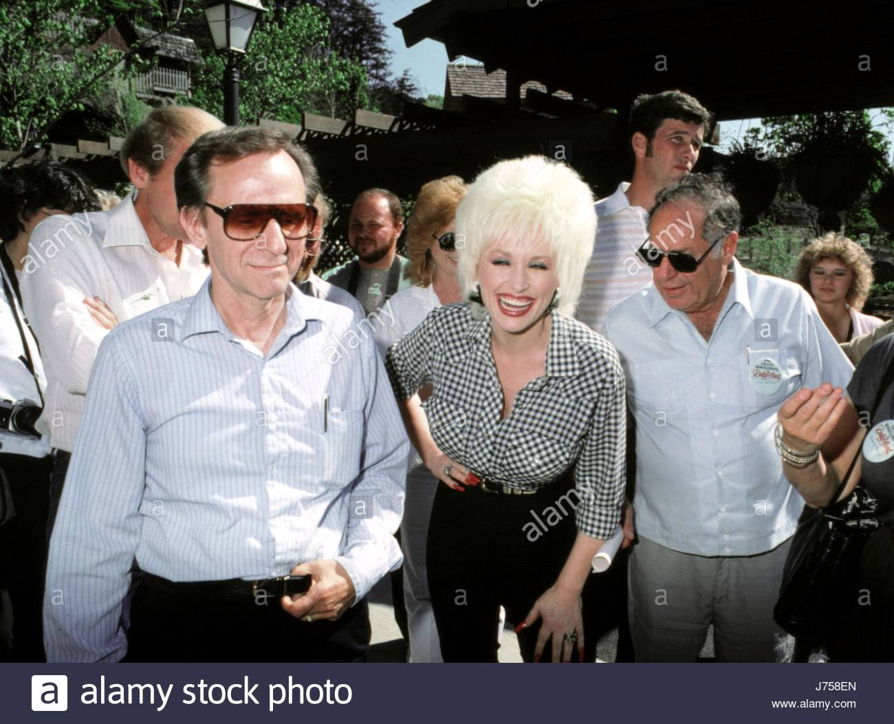 Dolly Parton at a press conference for the opening of the