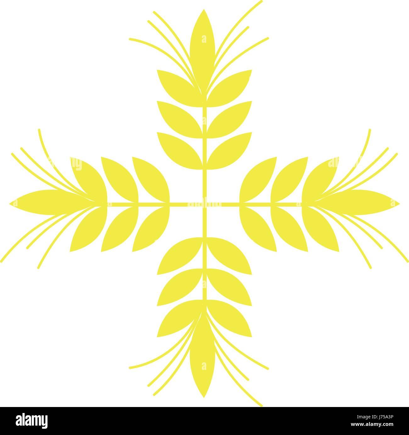 healthy wheat organ plant nutricious - Stock Vector