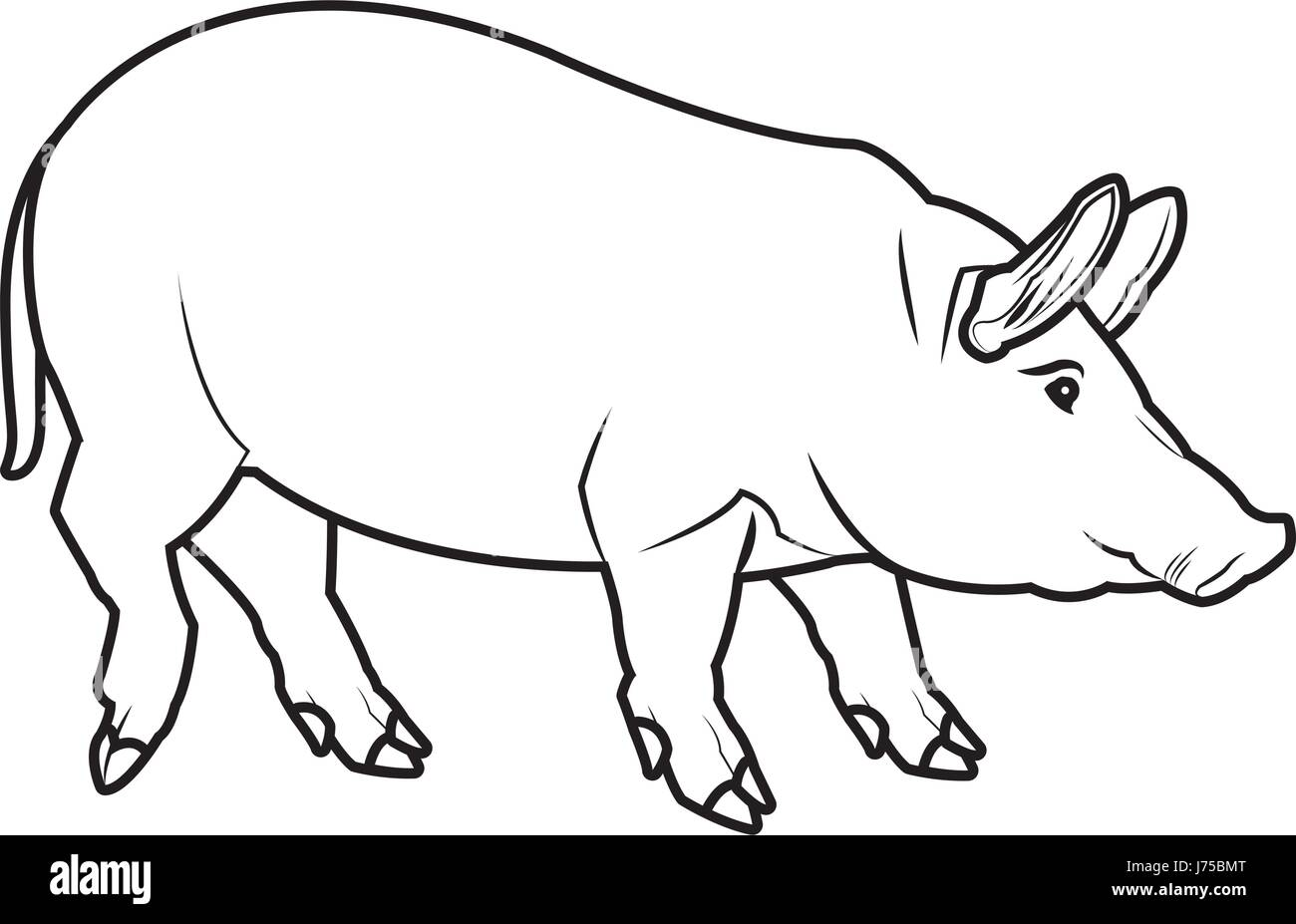 Cute Pig Cartoon Animal Farm Image Stock Vector Image Art Alamy