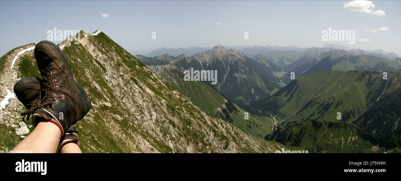 holiday vacation holidays vacations heaven paradise break rest pause mountains Stock Photo