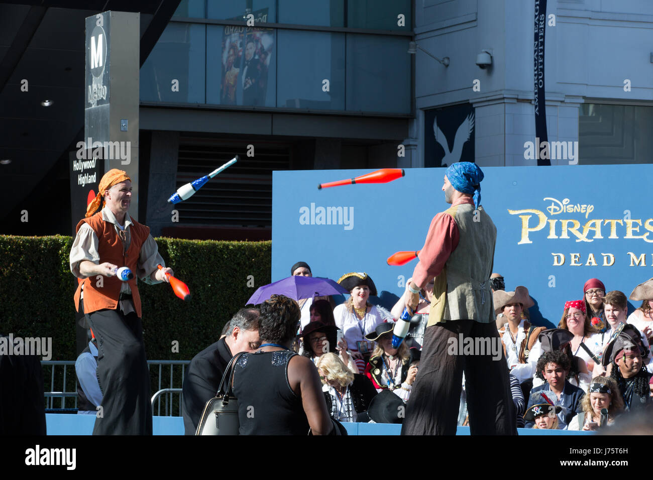 Atmosphere at the premiere of Disney's 'Pirates Of The Caribbean: Dead Men Tell No Tales' at Dolby Theatre - Stock Image